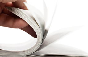Magazine drukwerk bladeren 285x185