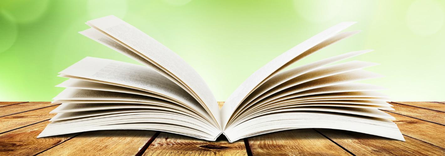 Open boek buiten gelijmd gebrocheerd