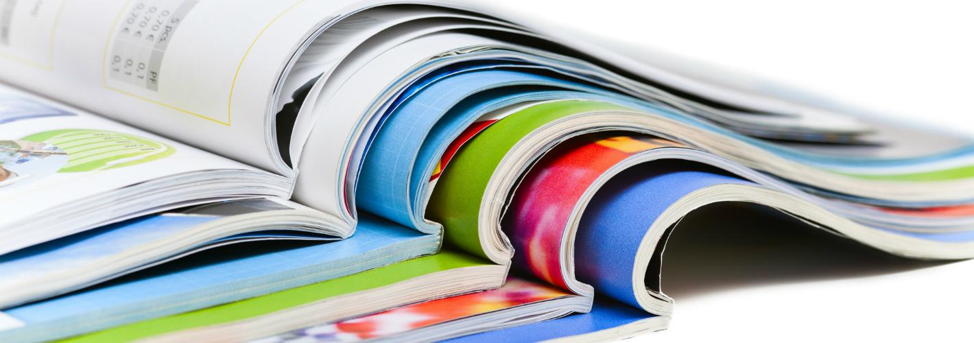 open magazines gelijmd gebrocheerd