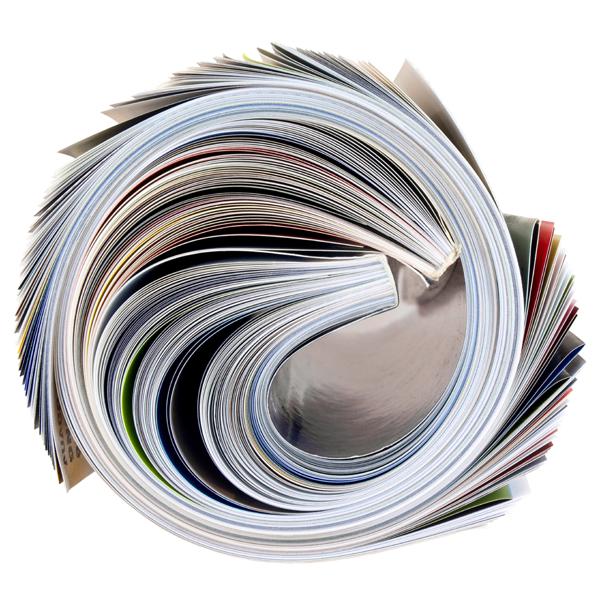 opgerolde magazines