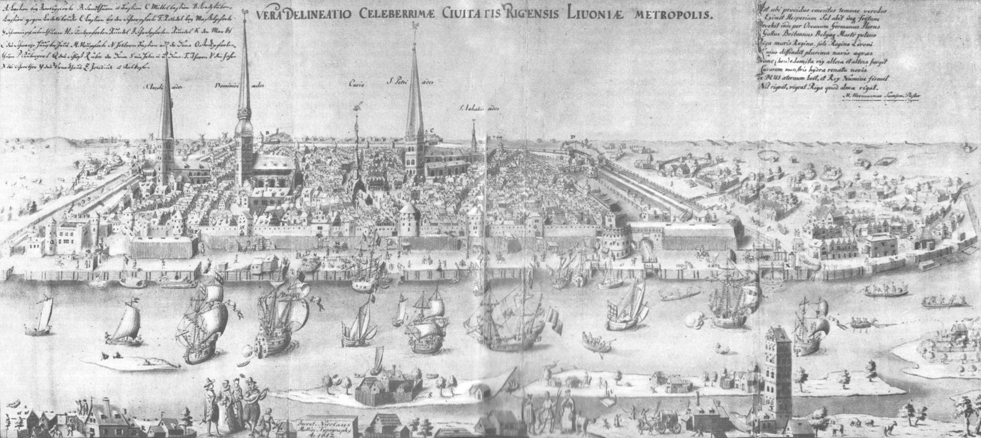 Panorama van Riga 1612 - Niclaes Mollijns